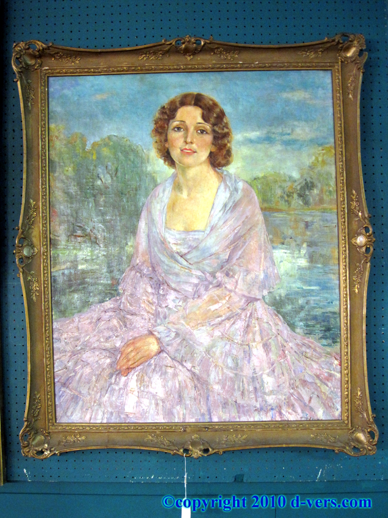 19th Century Oil Painting Gilded Frame
