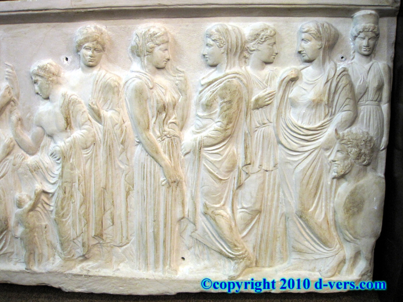 Relief Sculpture Commissioned By John DeLorean, Maker of the DeLorean For the Back To The Future Movies, of A Group Of Romans In Togas