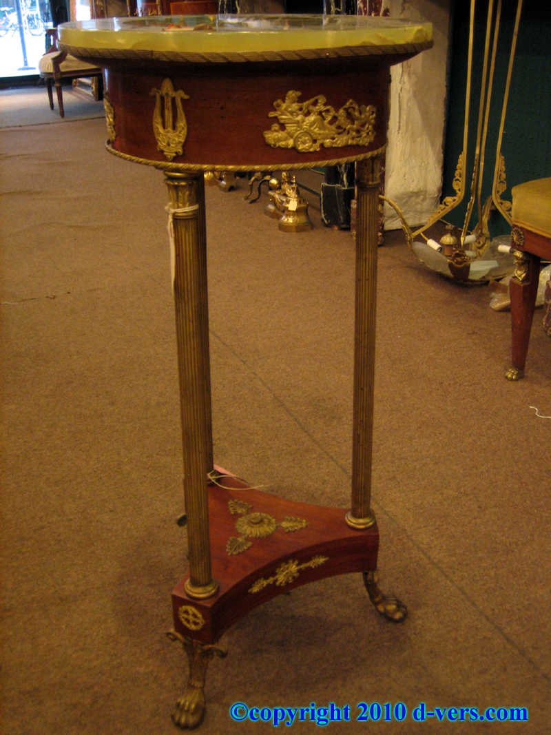 Empire Style Gueridon 19th Century Ormolu Gilded
