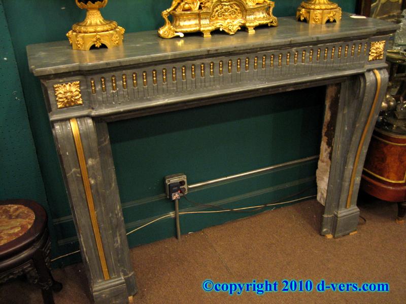 19th Century Marble Fireplace Surround Ormolu Gilded