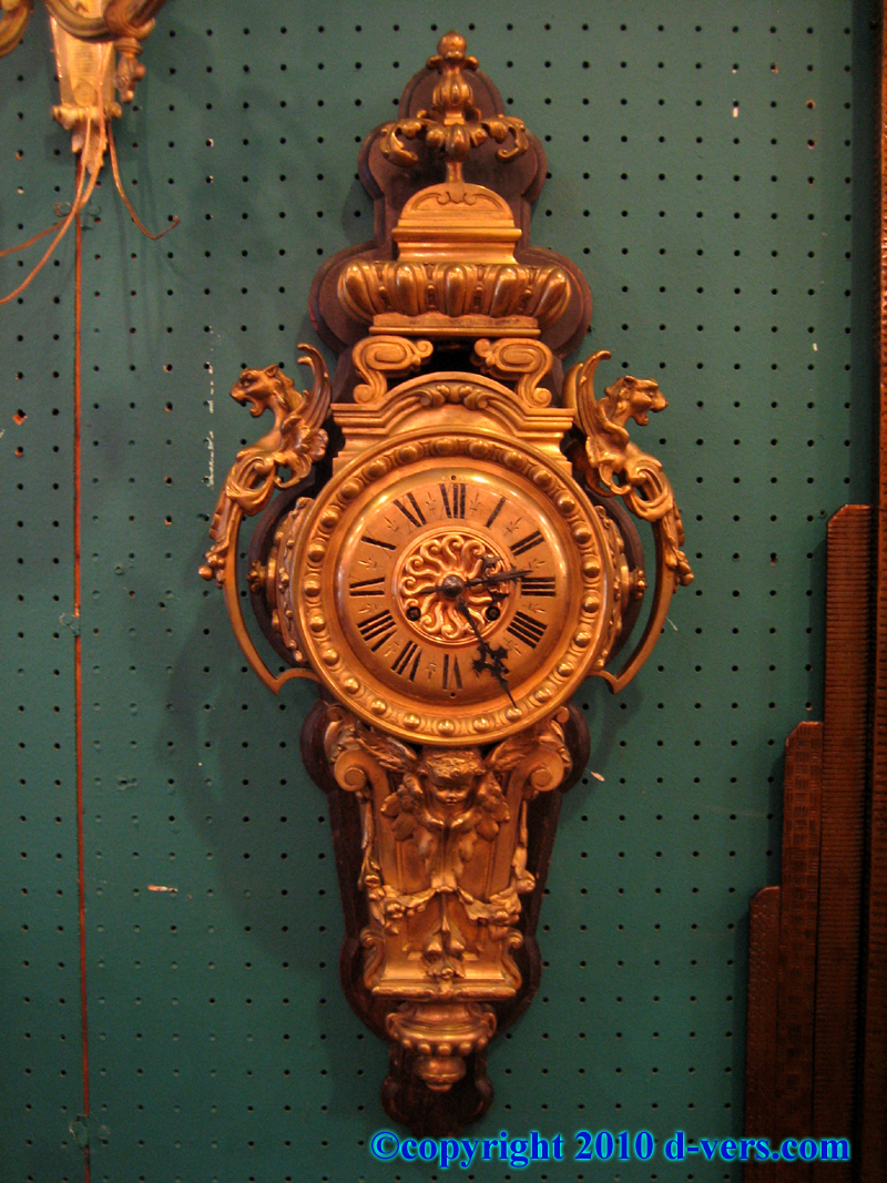 19th Century French Wall Clock Louis XVI Ormolu Gilded