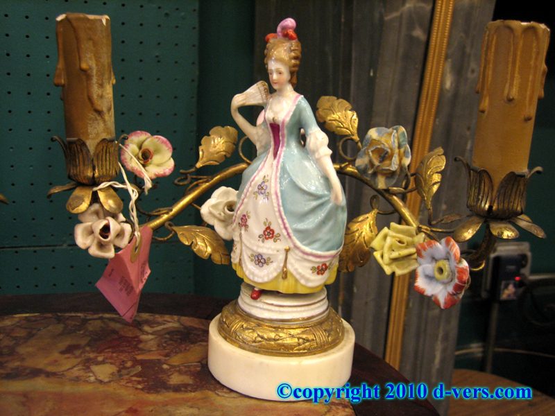 Pair of Porcelain Figural Candelabra, with Two Lights