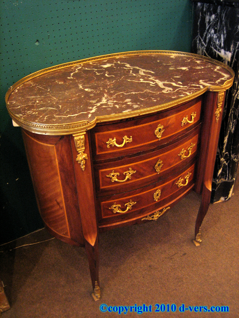 Transitional Marble Top Console Kidney Shaped French 19th Century