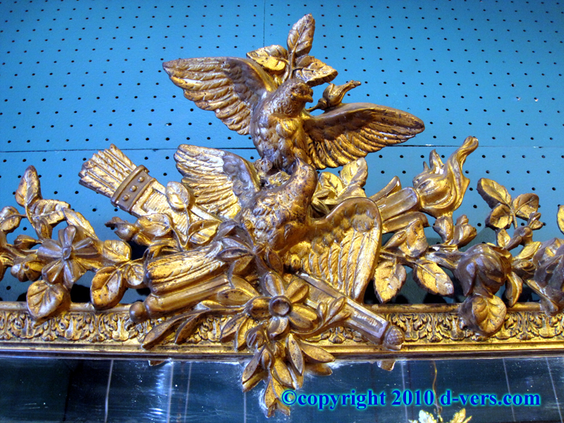 19th Century French Water Gilded Mirror with Birds