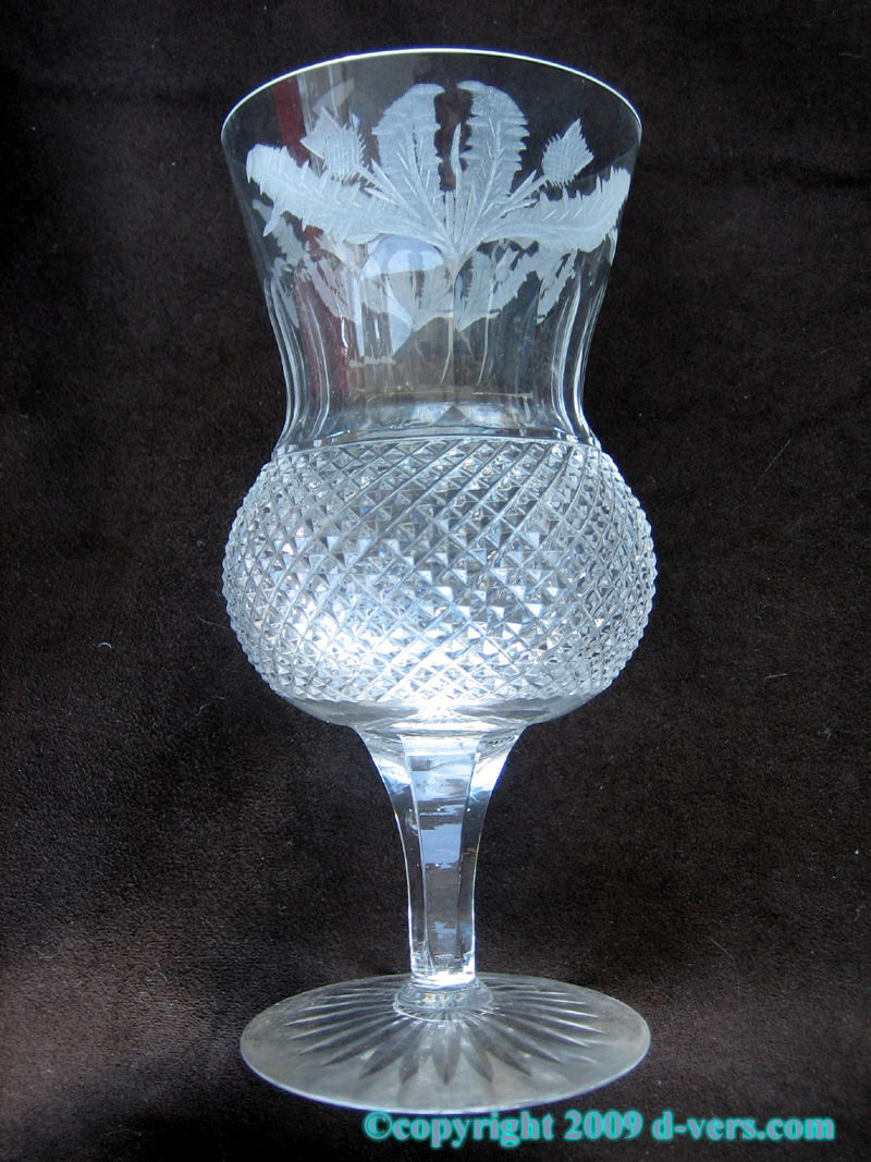Edinburgh Thistle Crystal Sherry Glass Made in Scotland