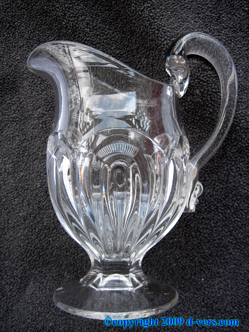 Early American lead crystal mini pitcher
