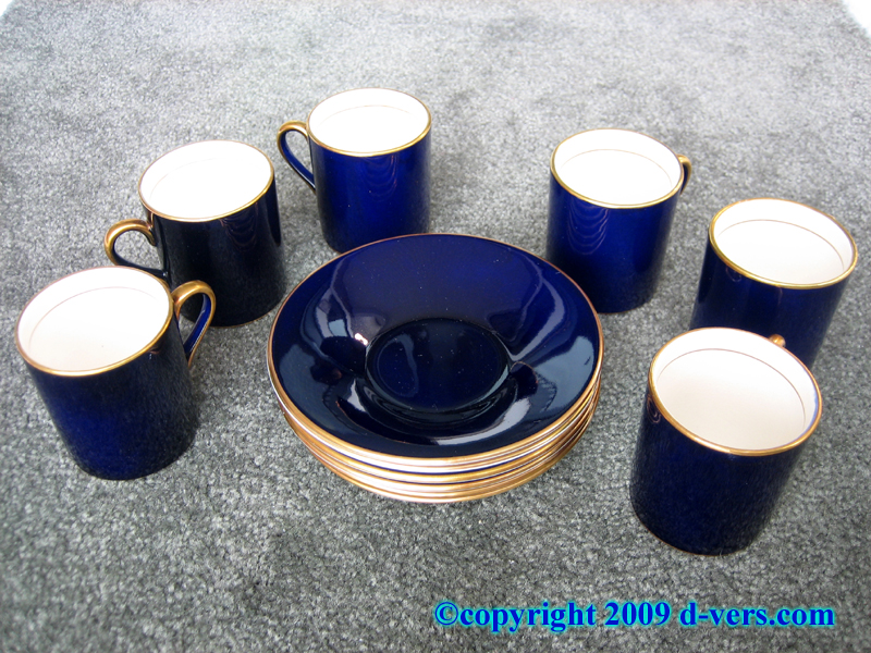 Art Deco Porcelain Demitasse Cups And Saucers