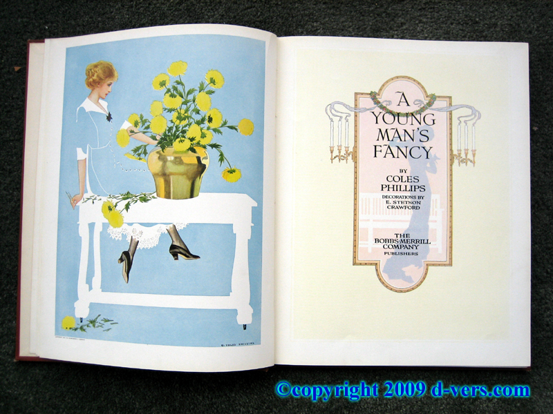 Illustrated Book Titled A Young Man's Fancy by Coles Phillips