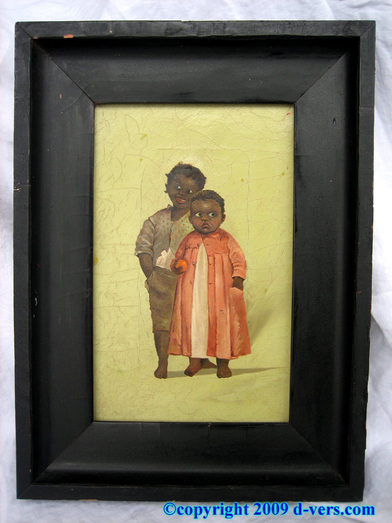 Folk Art Painting of black children from the 19th Century
