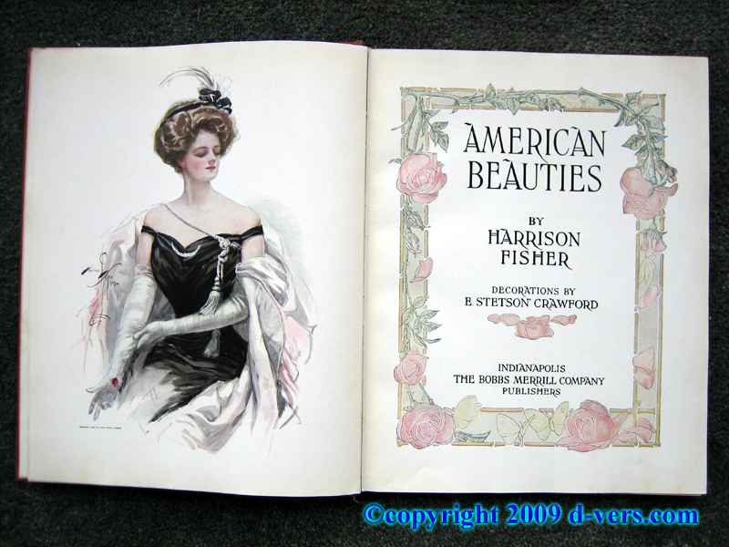 Book by Harrison Fisher, American Beauties, with lavish illustrations