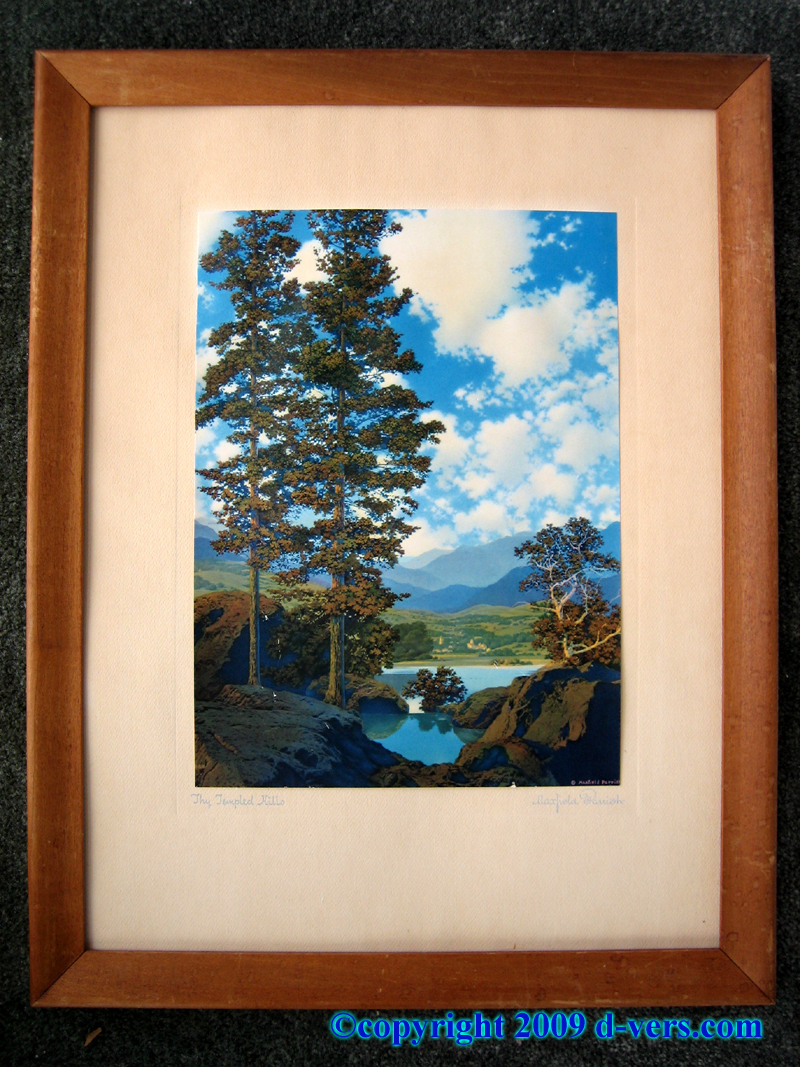 Maxfield Parrish Print of Thy Templed Hills