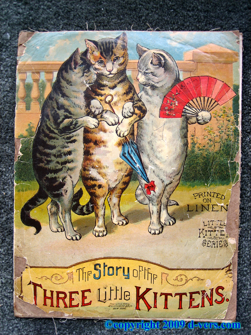 Childrens' Book titled the Story of the Three Little Kittens