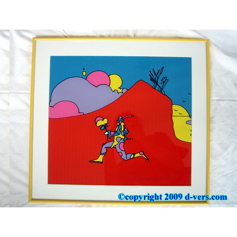 Coming Into Red by Peter Max framed print