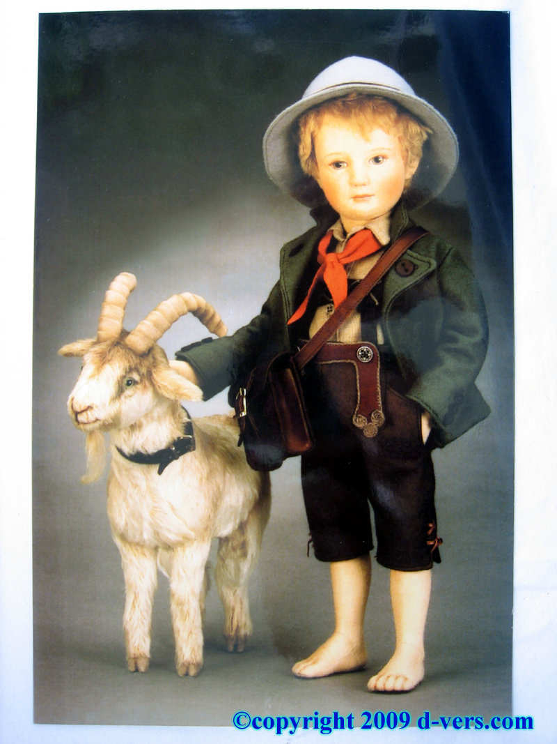 R. John Wright Peter the Goatherd two piece doll set