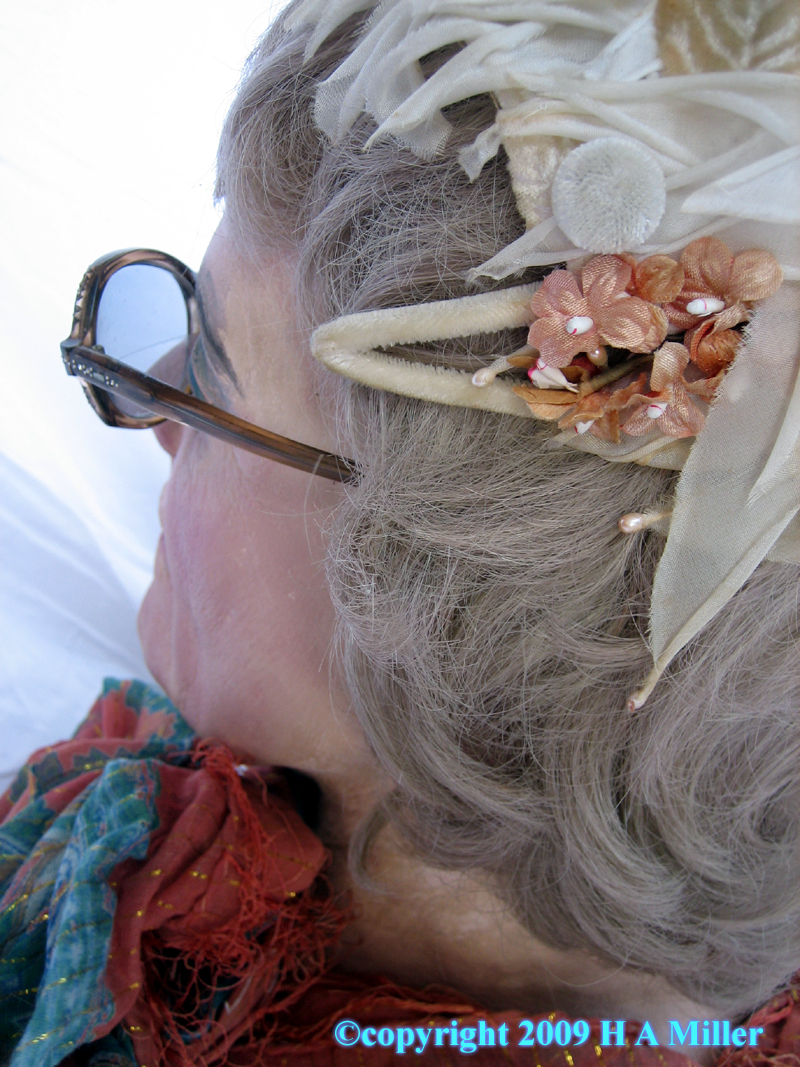 Interesting angle of Duane Hanson Test Head Lady Eyeglasses