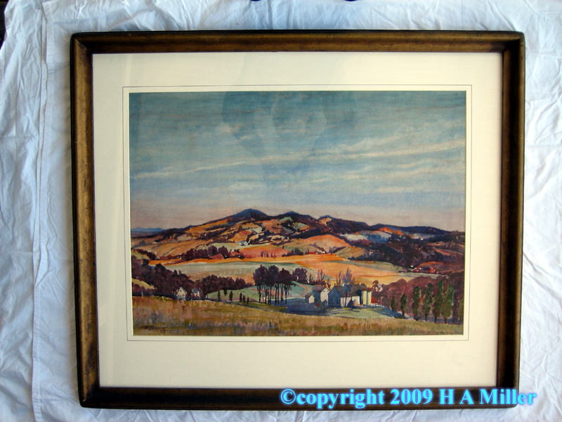 South Mountains watercolor painting by William Rohrbeck