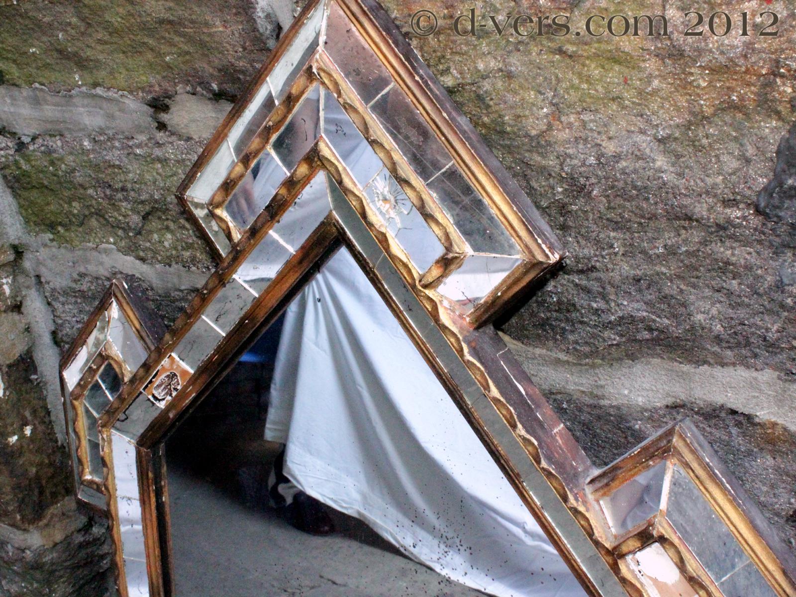 Pieced Glass Restoration Period Mirror