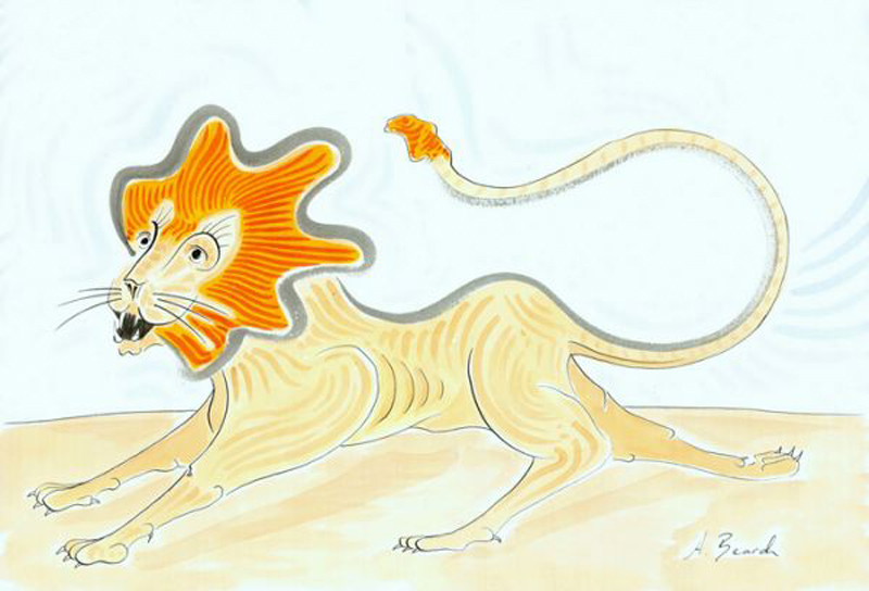 Alex Beard Children's Book Illustration The Lion