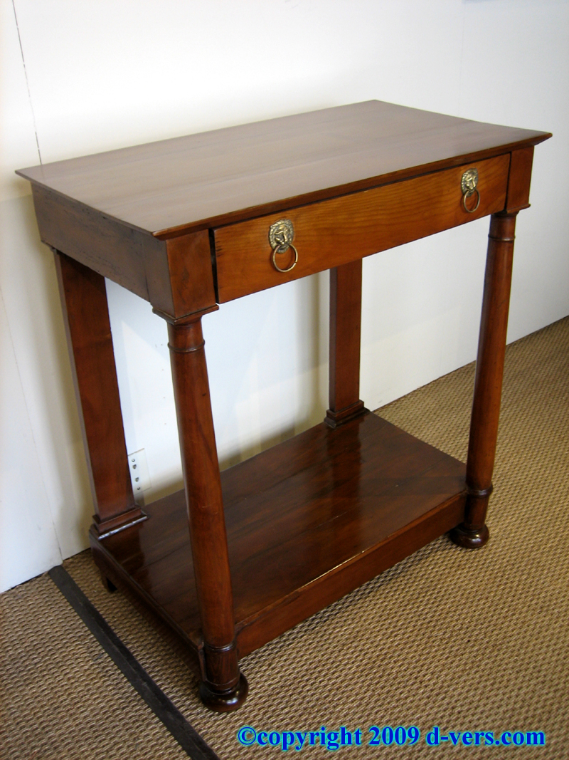 Fruit wood console in the Directoire style from France
