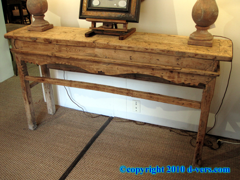 Bare Elm Wood Chinese Altar Table