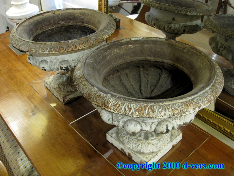 French Classical Antique Cast Iron Urns