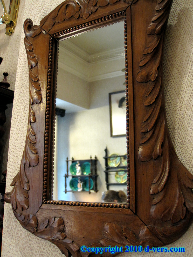 19th Century Hand Carved Black Forest Mirrors Light Wood