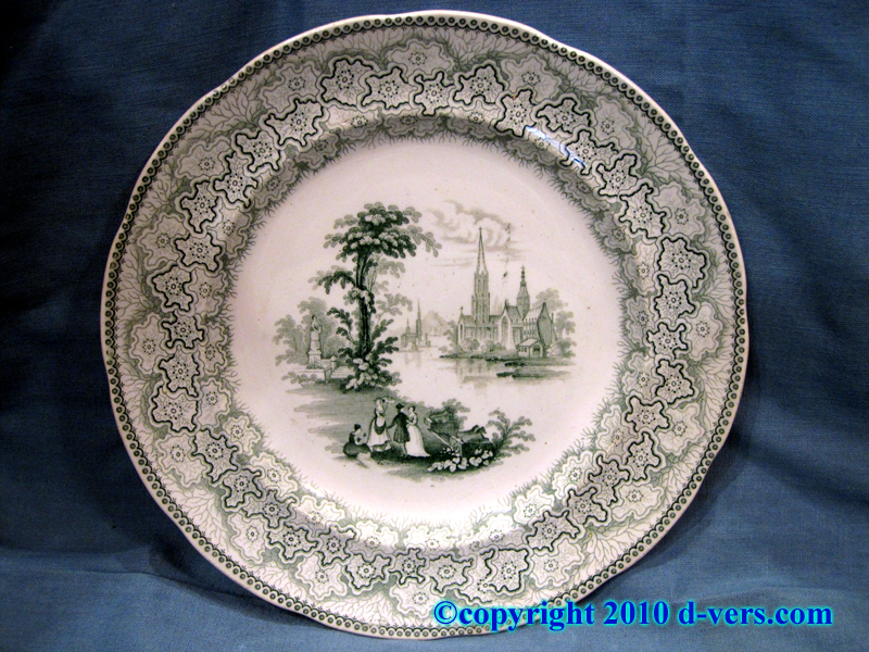 Set of Transferware Dinner Plates Fell & Co.