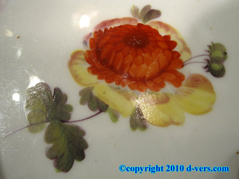 19th Century Hand Painted Porcelain Dessert Plates