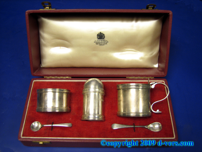 Georgian English Sterling Silver Condiment Set