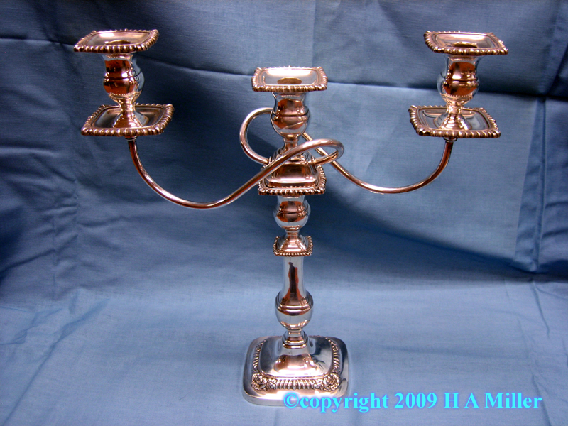 International Candelabra Sterling Silver Pair