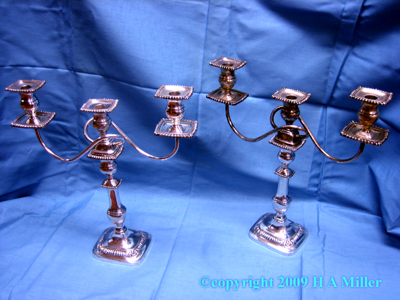 International Sterling Silver Candelabra Pair Lord Roberts American