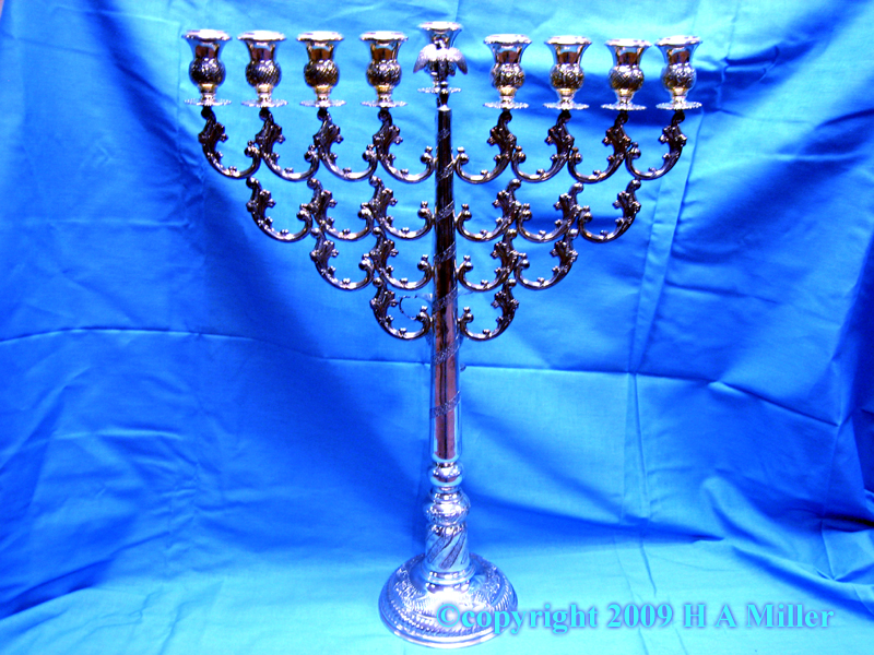 Jewish Menorah Israel Sterling Silver