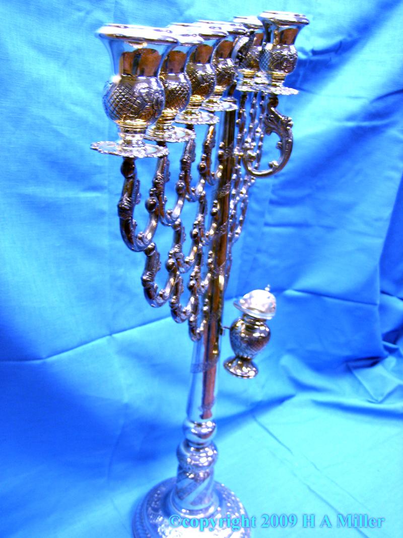 Sterling Silver Jewish Menorah Judaica Israel