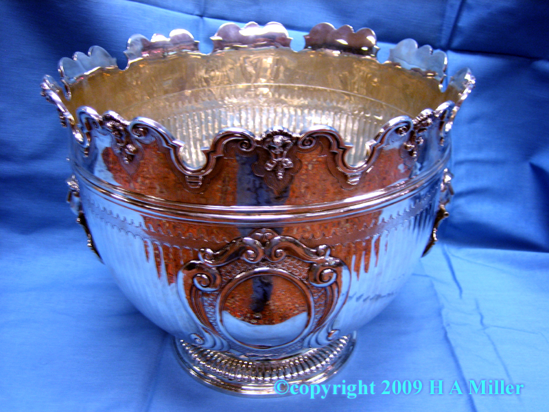 Victorian Sterling Silver Monteith Bowl
