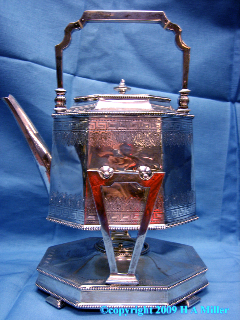 English Tilting Kettle Victorian Sterling Silver