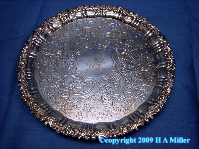 George IV Sterling Silver Footed Salver 19th Century
