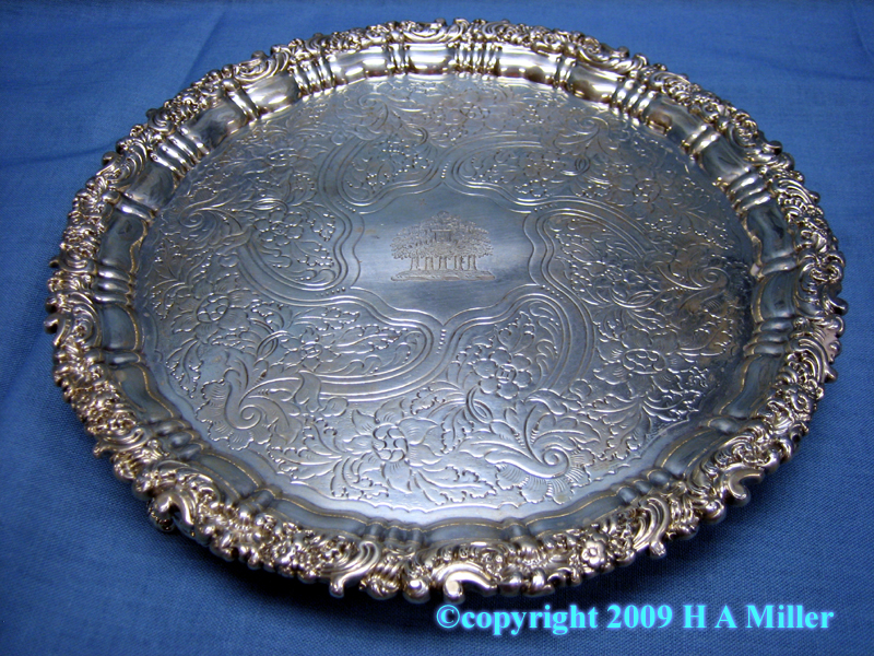 Sterling Silver Footed Salver Georgian