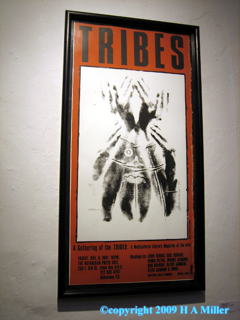 David Hammons Original Signed Silk Screen Print For The Gathering Of The Tribes Magazine Issue