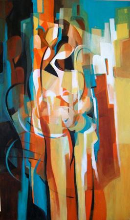 Original Acrylic Painting by Ella Prakash titled Love & Joy