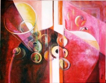Original Acrylic Painting by Ella Prakash titled Moods of Light