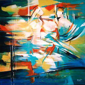 Original Acrylic Painting by Ella Prakash titled Together