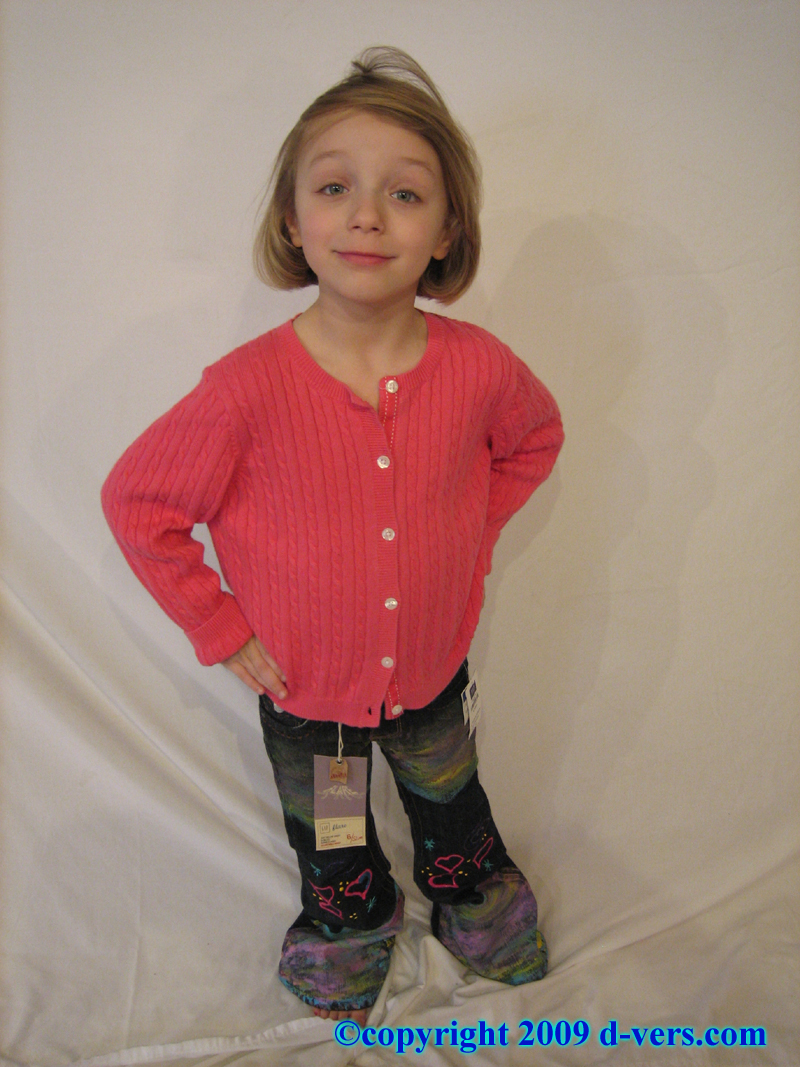 Custom Hand Painted Girls Couture Jeans With Dimensional Paint